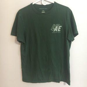 AEO Dark Green Mens T Shirt Size Medium